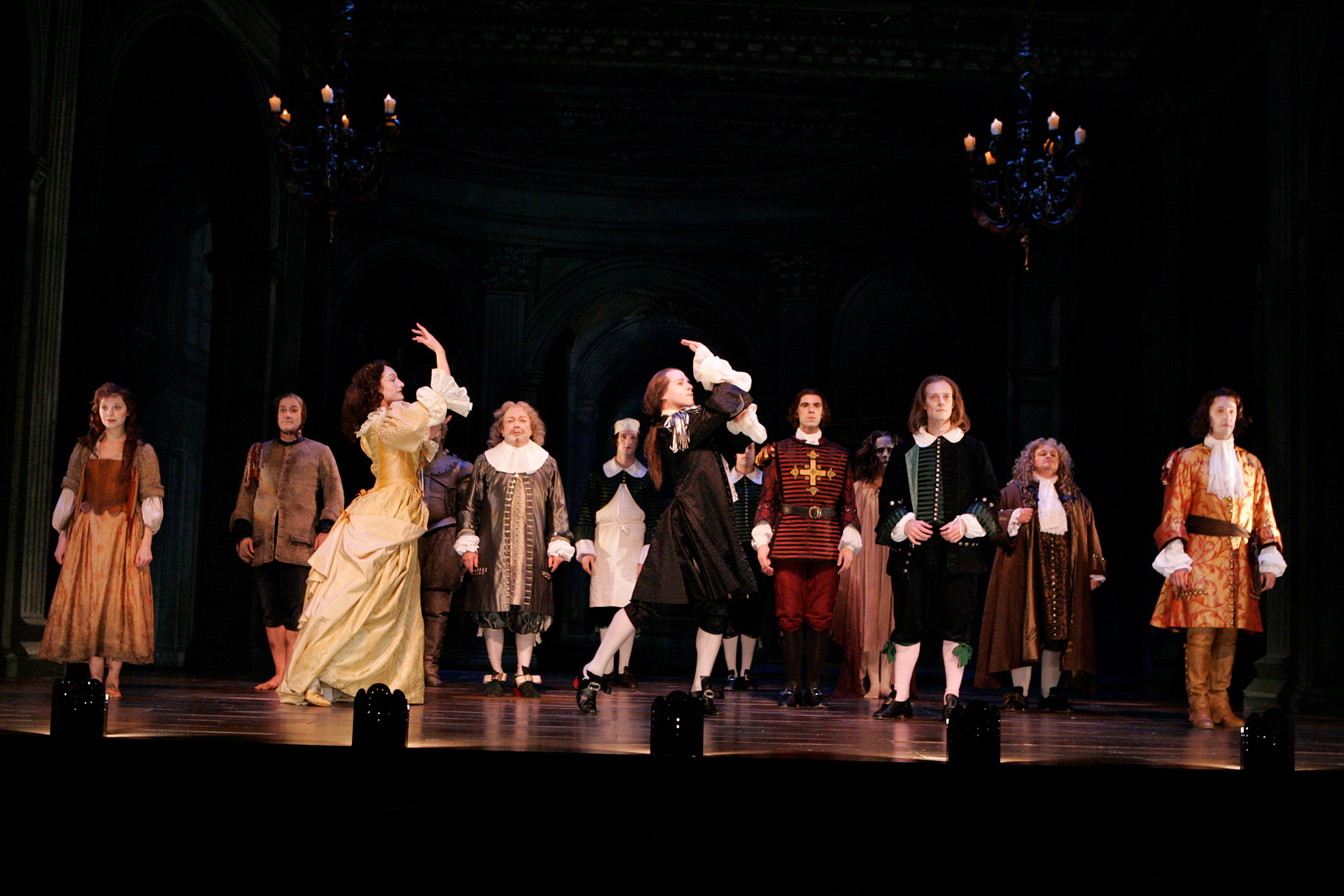 Curtain Call for the Shakespeare Theatre Company's production of DON JUAN, translated, adapted and directed by Stephen Wadsworth. Photo by Richard Termine.