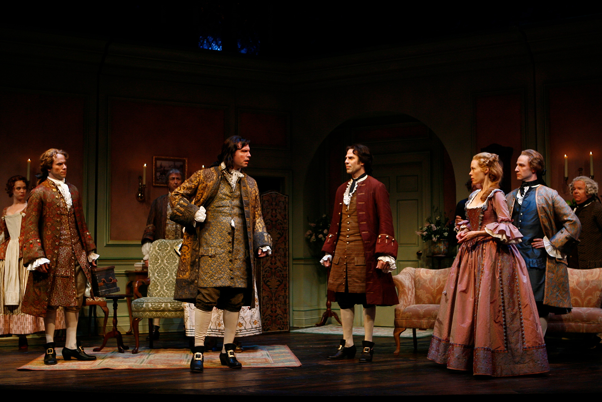 With the cast of THE BEAUX' STRATAGEM at the Shakespeare Theatre Company. Photo by Carol Rosegg.