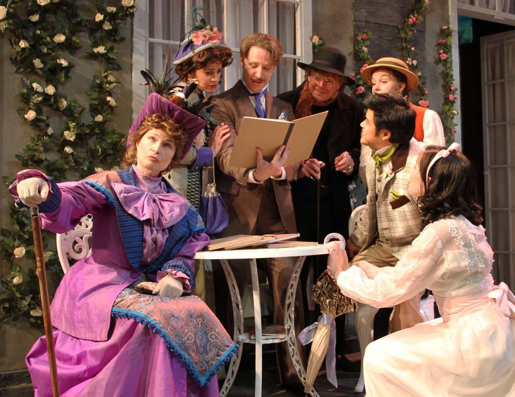 As John Worthing, with the cast of THE IMPORTANCE OF BEING EARNEST, at Perseverance Theatre. Photo by Akiko Nishijima Rotch
