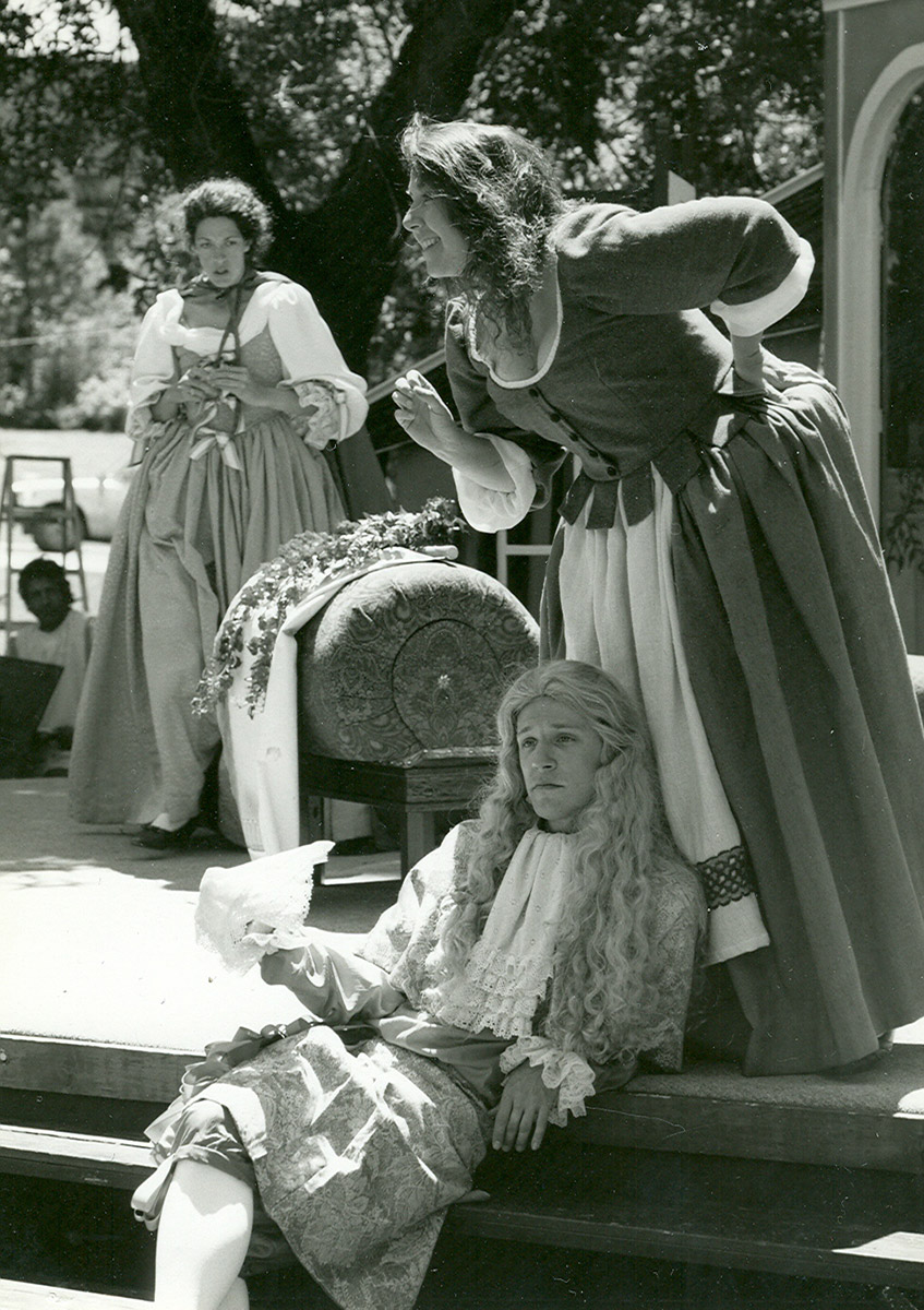 As Sparkish, with Annie Butler and Susan Felder, in Montana-Shakespeare-in-the-Parks' THE COUNTRY WIFE.