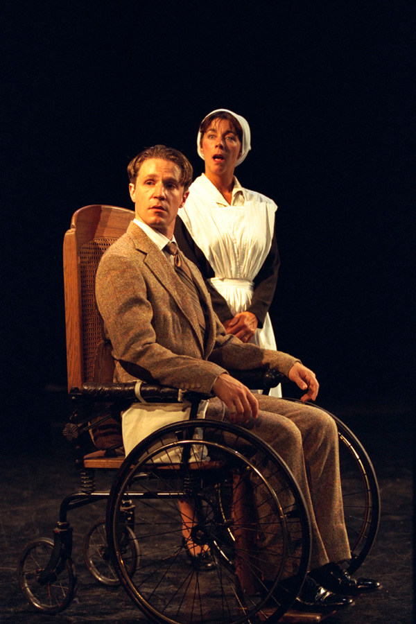 As Sir Clifford, with Julie Jamieson, in Book-It Repertory Theatre's LADY CHATTERLEY'S LOVER. Photo by Matthew Lawrence.