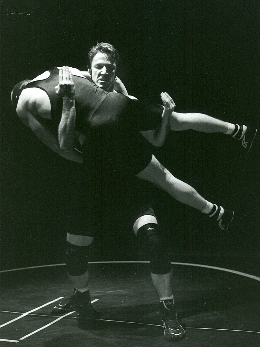 As Willy in THE WRESTLING SEASON at Seattle Children's Theatre. Photo by Chris Bennion.