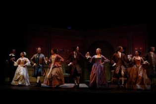 Curtain Call for THE BEAUX' STRATAGEM at the Shakespeare Theatre Company. Photo by Carol Rosegg.