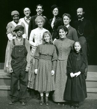 With the cast of THE MIRACLEWORKER at Tacoma Actors Guild.