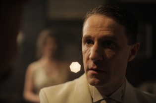 As The Ghost in a still from QUIETUS, a short film directed by Boman Modine.