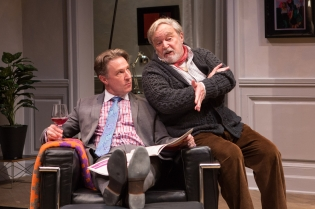 As Man, with Ted van Griethuysen as André in THE FATHER at Studio Theatre. Photo by Teresa Wood.
