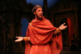 As Antipholus of Ephesus in THE COMEDY OF ERRORS at Orlando Shakespeare Theatre. Photo by Rob Jones.