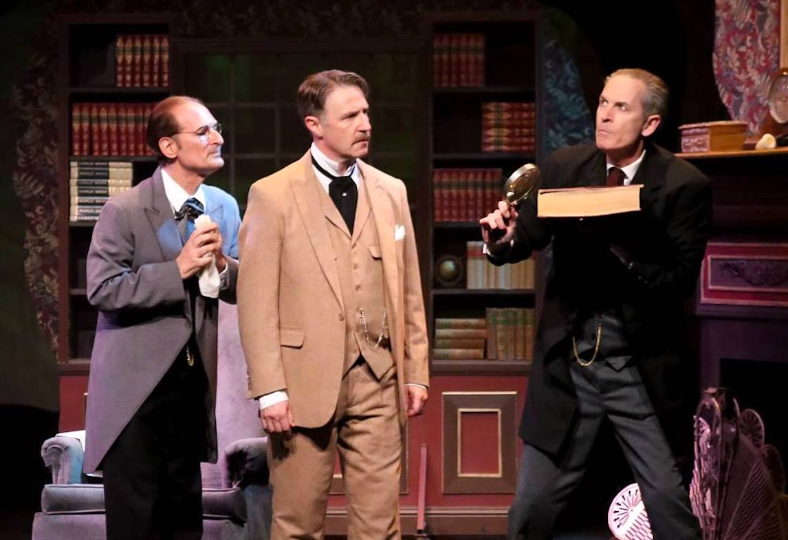 As Dr. Watson, with Marc Geller as Dr. Mortimer and Jerry Lloyd as Sherlock Holmes in KEN LUDWIG'S BASKERVILLE: A SHERLOCK HOLMES MYSTERY at Sierra Repertory Theatre. Photo by Jerry Lee.