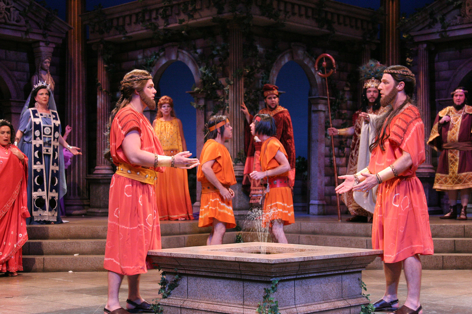 With the cast of THE COMEDY OF ERRORS at Orlando Shakespeare Theatre. Photo by Rob Jones.