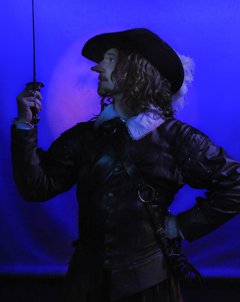 As Cyrano de Bergerac in CYRANO at Sierra Repertory Theatre. Photo by Rich Miller.