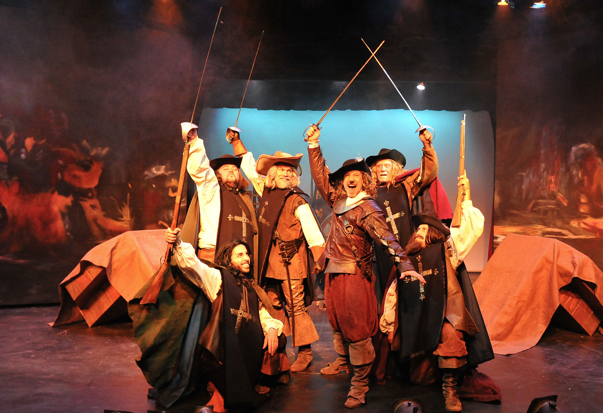With the cast of CYRANO at Sierra Repertory Theatre. Photo by Rich Miller.