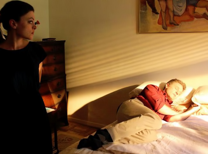 On the set of HOLD ME with Hannah Fierman. Photo by Aksel Stasny.