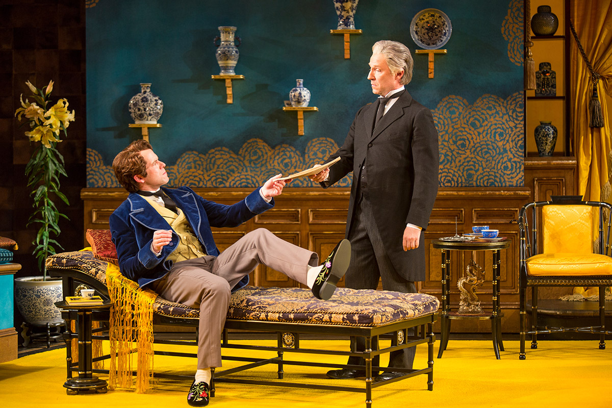 As Lane, with Christian Conn as Algernon Moncrieff  in THE IMPORTANCE OF BEING EARNEST at The Old Globe. Photo by Jim Cox.
